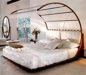 modern decorating with a canopy bed room decorating