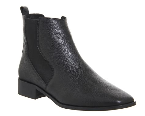 office luminate flat chelsea boots black leather ankle boots