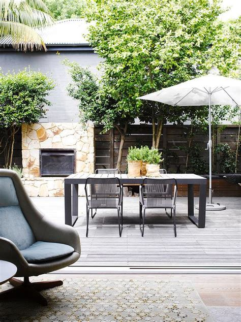 modern patio modern patio with black outdoor dining table and chairs