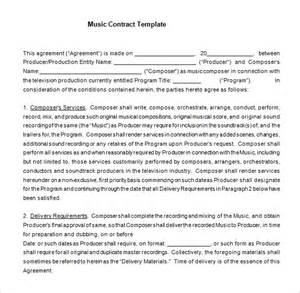 9 music contract templates free word pdf documents