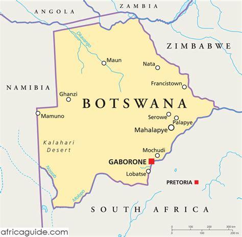 botswana map botswana kapital karte