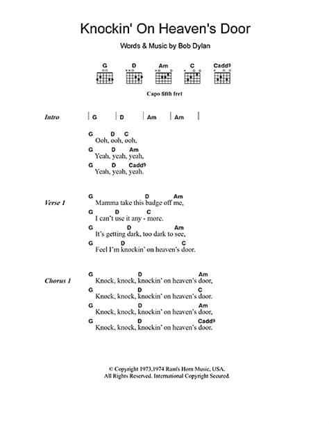 Knocking On Heavens Door Tabs by Knockin On Heaven S Door Sheet By Avril Lavigne Lyrics Chords 104601