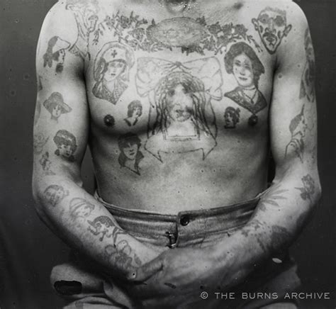 french tattoo history 19th century french criminal tattoos 18th 19th