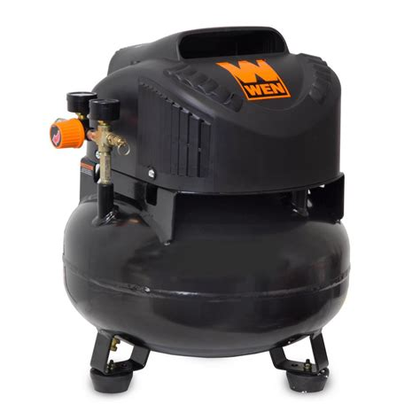 wen 6 gal free pancake electric air compressor 2286
