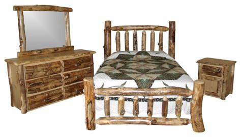 log bedroom furniture sets rustic aspen log king bedroom set rustic bedroom