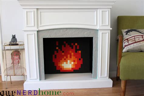 diy legend of 8 bit in our fireplace total