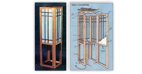 shoji screen lamp plans woodarchivist