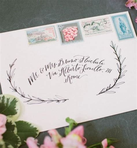 Cards Addressed And Mailed - envelope inspiration calligraphy and vintage sts