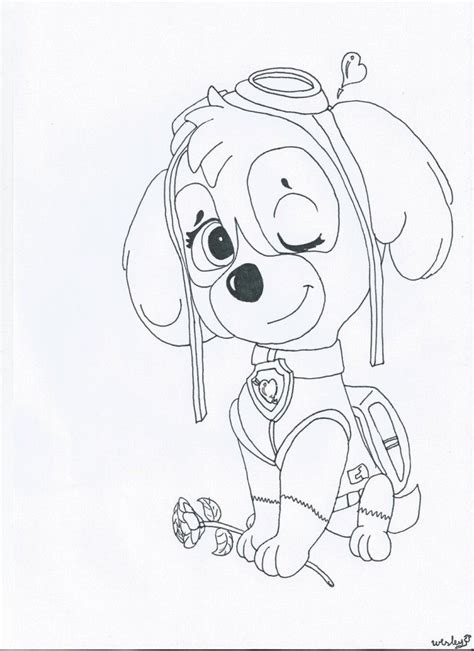 ryder s birthday coloring page free printable coloring pages skye paw patrol coloring page az coloring pages