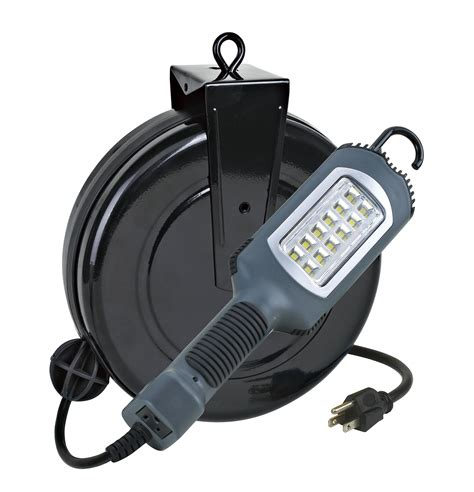retractable led work light led cord reel work light from the lighting experts alert