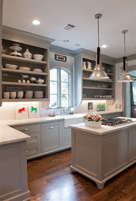 Gray Cabinet Kitchens Gray Kitchen Cabinets Transitional Kitchen Benjamin Fieldstone Sally Wheat Interiors