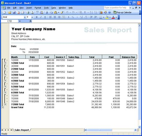 sle invoice report extracting reports excel invoice manager