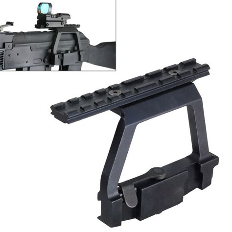 ak 47 rail side mount metal top rail mount ak47 ak74 saiga rifle airsoft side