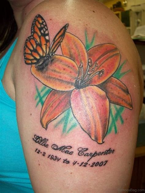 butterfly memorial tattoo 43 hibiscus shoulder designs