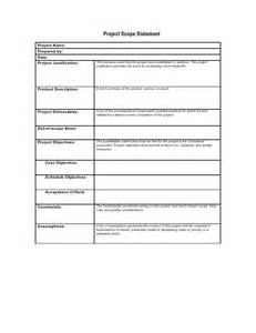 scope matrix template preliminary scope statement template