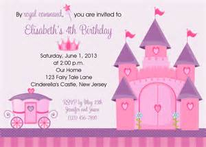 princess invites printable princess castle invitation personalized custom princess
