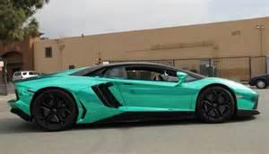 Chromed Lamborghini Unique Lamborghini Aventador In Turquoise Chrome