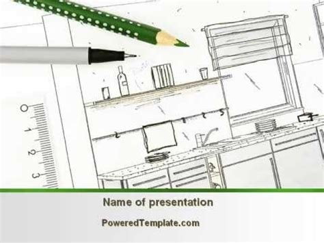 kitchen design and layout ppt kitchen interior design powerpoint template by