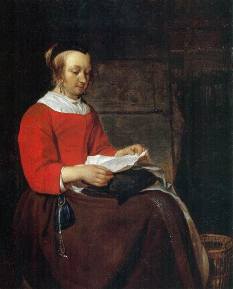 Reference Letter Leiden seated in an interior reading a letter wikidata
