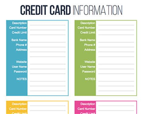 Credit Card Billing Information Template Paycheck Budgeting Worksheet Editable By Freshandorganized