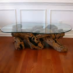 Driftwood coffee table with glass top cocktail by rhapsodyattic