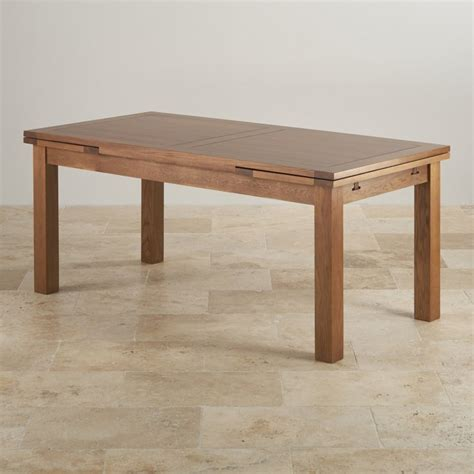 Extending Dining Table In Rustic Oak Oak Furniture Land Oak Furniture Land Dining Table