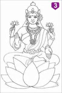 free saraswati easy coloring pages