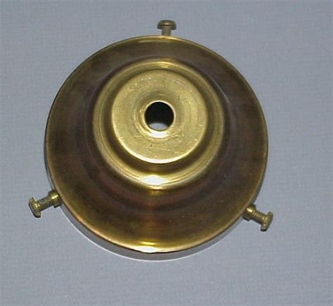 l parts 3 1 2 quot brass shade rest for hanging leaded