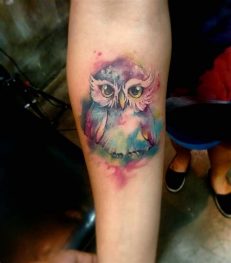 watercolor animal tattoo watercolor owl animal designs owl