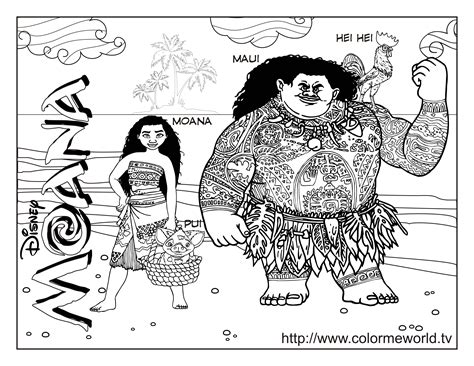 coloring pages moana moana coloring pages free printable moana pdf coloring