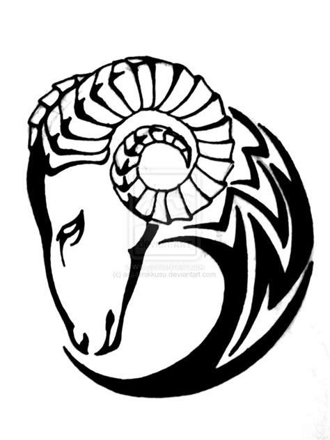 aries tribal tattoo designs tribal aries design