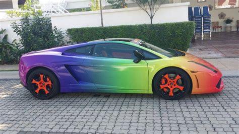 rainbow lamborghini a rainbow colored lamborghini gallardo