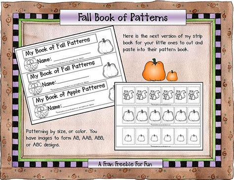 math pattern books for kindergarten fall patterning book freebie math patterns pinterest