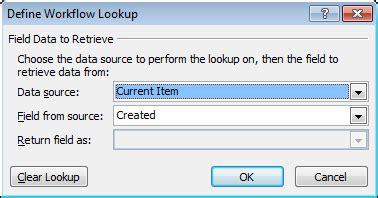 sharepoint workflow lookup field sharepoint designer workflow lookup column