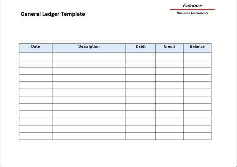 account ledger template masir