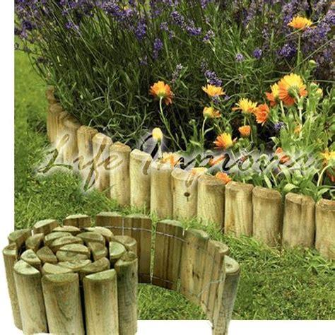 Landscape Edging Wooden Posts 6 X 1 8m Wooden Garden Border Rolls Lawn Edging