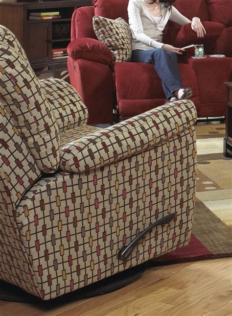 patterned fabric recliners bryson swivel glider recliner in rustic pattern fabric by