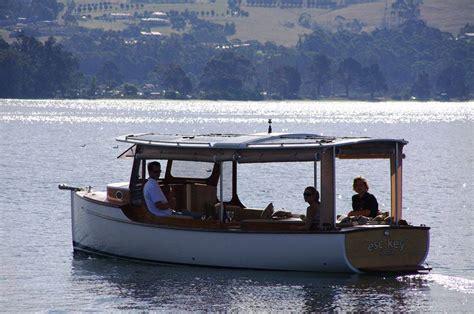 boat r noosa tasmanian built solar electric boat launched in noosa
