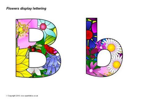 flowers display lettering (sb3504) sparklebox