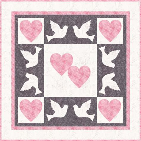 dove and wedding quilt pattern by phyllis dobbs
