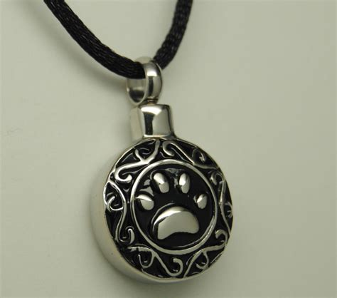 urn necklace paw cremation urn necklace paw print pet urn paw urn cremation jewelry memorial ebay