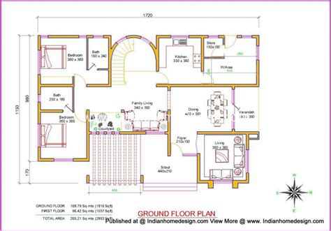 design plans villa design plan and elevation of 2853 sq ft independent