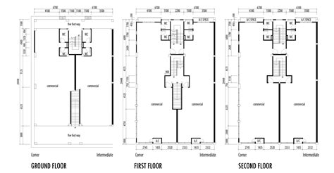 shop building floor plans shop house floor plans shophouse of 4 floors commercial