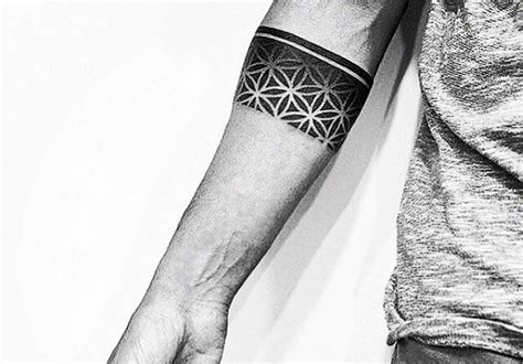 tattoo geometric band 50 forearm band tattoos for men masculine design ideas