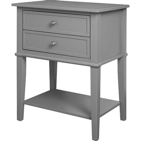 accent tables with drawers 2 drawer accent table in gray 5062196pcom