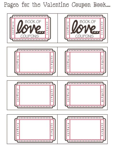coupon book template for boyfriend by day crafter by free printable