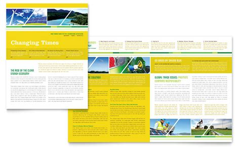 professional newsletter templates free environmental conservation newsletter template word