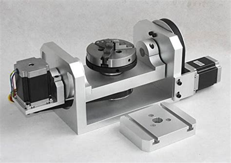 4 axis table top cnc kohstar cnc 4th axis stepper motor rotary table with 3 jaw