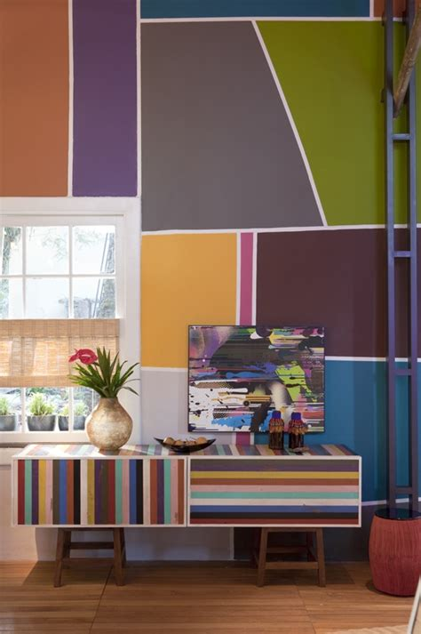 Multi Colored Walls | multi colored wall decor pinterest