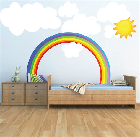 childrens wall stickers murals rainbow wall decals weather wall decal murals primedecals